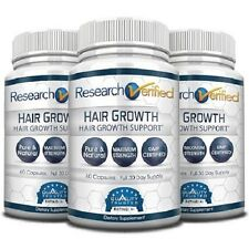 Research Verified Hair Growth - Natural Hair Loss Treatment (3 Bottles)