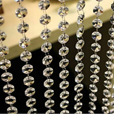 DIY 33ft Crystal Clear Acrylic Garland Bead Chandelier Hanging Wedding Supplies