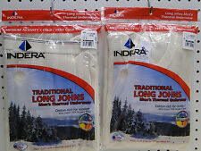 Men's Cotton Rich Long Johns Thermal Underwear Set Large