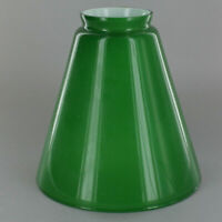 "7"" ~ GREEN Cased Glass ~ Hanging Lamp ~ CONE SHADE  ~ 2 1/4"" Fitter"