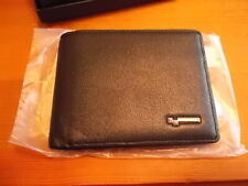 MENS BLACK LEATHER WALLET BIFOLD WITH RFID BLOCKING