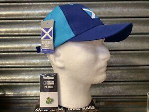 SCOTTISH HAT CAP & PIN BADGE SET - INDYREF FREEDOM SCOTLAND INDEPENDENCE