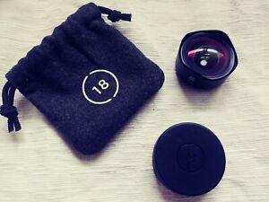 Objectif grand angle 18 mm de marque Moment - modèle O-Series + coque iphone 6/6