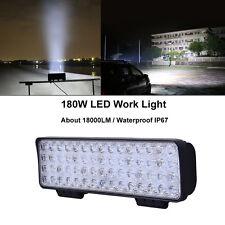 180W 60 LEDs Work Light Bar Off-road Spotlight  SUV ATV Boat Fog Lamp 12V-24V