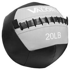 Valor Fitness Wall Ball 20-lb, Black & Gray, WB-20 New