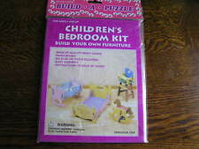 1999 Four Star Miniature CHILDREN'S BEDROOM 3-D Furniture Kit For Ages 6+~~NIP!!