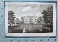 1789 Datato Antico Stampa Adscomb Sedile Di Lord Hawkesbury