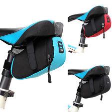 Sac de rangement pour selle de vélo, nylon, 16 cm-8 cm-7 cm, en noir-bleu,  neuf