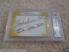 Sadaharu Oh 2014 Leaf Masterpiece Cut Signature DUAL auto autographed signed 1/1