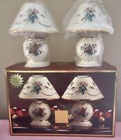 Set Of 2 Lenox Winter Greetings Candle Lamp Cardinal Tea Lights NIB MIB