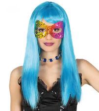 Ladies Shiny Rainbow Mask Masquerade Ball Eyemask Venice Fancy Dress Masque NEW