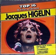 33t Jacques Higelin - Top 16 - 16 titres originaux - LP