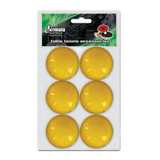 Formula Table Tennis Ball Ping Pong Balls 6 Pack ORANGE 1 Star Value