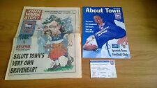 More details for 1996/97 ipswich town v arsenal wark test autographed + ticket and extras