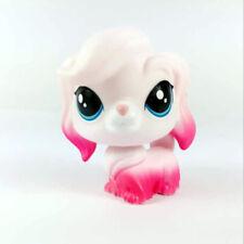 "2"" Rare Littlest Pet Shop LPS Pink & White Cute Dog Puppy Figure Kids Toy"