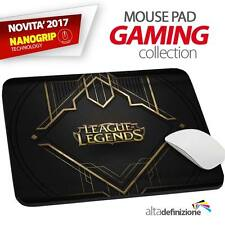 TAPPETINO MOUSE PAD Gaming 21x28 cm ANTISCIVOLO NANOGRIP League of Legends LoL