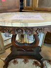 Antique Oval Marble Top Coffee Table  2