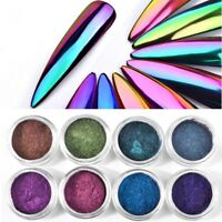Chameleon Mirror Nail Art Glitter Powder DIY Nail Chrome Pigment Dust Manicure