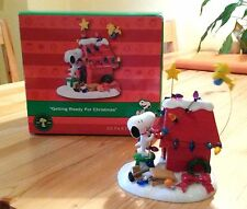 !! SNOOPY & WOODSTOCK Figur / Peanuts - Getting ready for X- mas / Neu & OVP !!