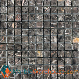 """Dynasty Brown MarbleTile Mosaic Polished12""""x12"""" Square1""""x1""""+ Free Shipping"""