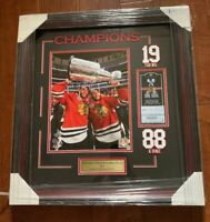 Jonathan Toews Patrick Kane Chicago Blackhawks 2015 Stanley Cup 11x14 Framed