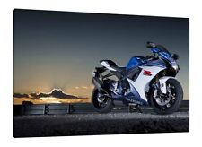 Suzuki GSXR-1000 - 30x20 Inch Canvas Art - Framed Picture Print Superbike
