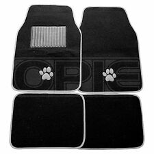Cumbre SUM-723 Gris Paw Print Car Mats-SINGLE
