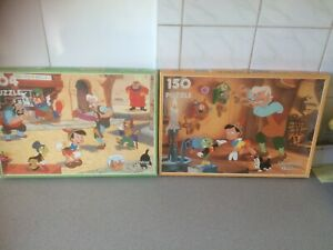 Vintage Clementoni Disney Pinocchio puzzles x 2. Lovely and complete.