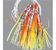 1 ORANGE ABALONE OCTOPUS GLITTER MUPPETS RIG Cod Fishing Lures Sea Boat Tackle