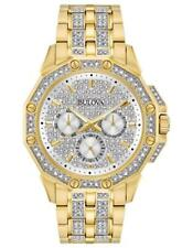 Bulova 98C126 Men's Swarovski Crystal Gold-Tone Stainless Steel Pavé Dial Watch