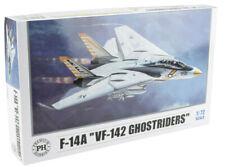"Premium Hobbies F-14A ""VF-142 Ghostriders"" 1:72 Plastic Model Airplane Kit 125V"