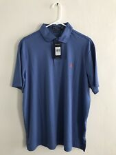 New With Tags Men Large Polo Ralph Lauren Pima Soft Bastille Blue  Shirt!!!