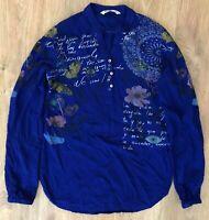 Desigual Style 18SWBW76 ladies womens blue shirt blouse size XS