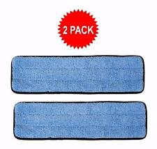 """2-pack of 18"""" Inch Microfiber Wet Mop Pads for Commercial Microfiber Mops"""