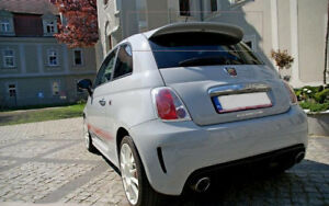 FIAT 500 ( from 2007 ) ABARTH LOOK REAR ROOF SPOILER