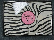 ZEBRA Standard Size SATIN Pillow Cases  Set Of 2   GIFT BOX !! SATIN SUPER SOFT