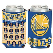 NBA Golden State Warriors Most Wins In A Single Season 2015-16 Can Cooler 12 Oz.