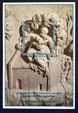Vaticano 1995 Foglietto 15 Centenario santuario Santa Casa di Loreto  MNH**