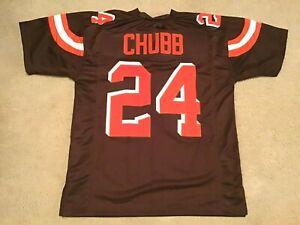 UNSIGNED CUSTOM Sewn Stitched Nick Chubb Brown Jersey - M, L, XL, 2XL