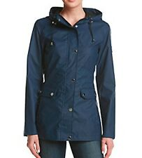 HFX Halifax Polyurethane Anorak Rain Slicker Jacket with Hood Navy Size S