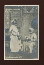 Egypt Cheikh prenant son cafe c1900/10s? RP PPC