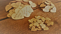 Personalised Wooden Love Heart Wedding Favours Table Decorations Rustic Mr & Mrs