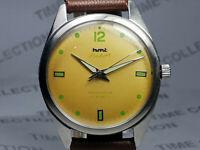 Vintage Hmt Pilot Mechanical Handwinding Movement Mens Wrist Watch VG308