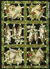 German Embossed Scrap Die Cut Easter Christmas Cross/' /& Flowers EF7300