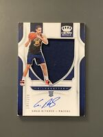 2019-20 Panini Crown Royale Goga Bitadze Rookie Patch Auto /199 Indiana Pacers