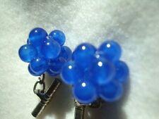 Cufflinks handmade beaded balls blue Jade gift retro vintage inspired cheap sale