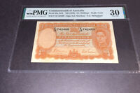 PMG Graded Commonwealth of Australia ND(1939) p25a VF30 10Shillings