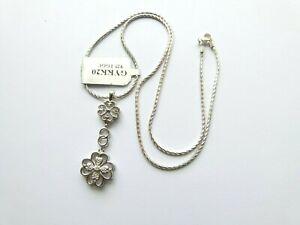 Gemporia/Gems TV -  0.03ct White Diamond Sterling Silver Pendant Necklace