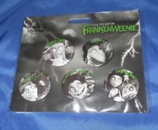 FRANKENWEENIE Disney Parks Exclusive Button/Pin Set ~Sparky/Weird Girl/Victor