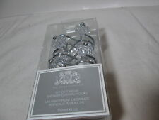 New By Appointment Fluted Knob Set of Twelve Shower Hooks ~ Clear Nib